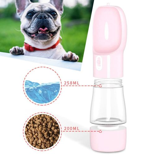 Bouteille d'eau et gamelle pour chien