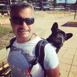Sac de transport pour chien Bouledogue