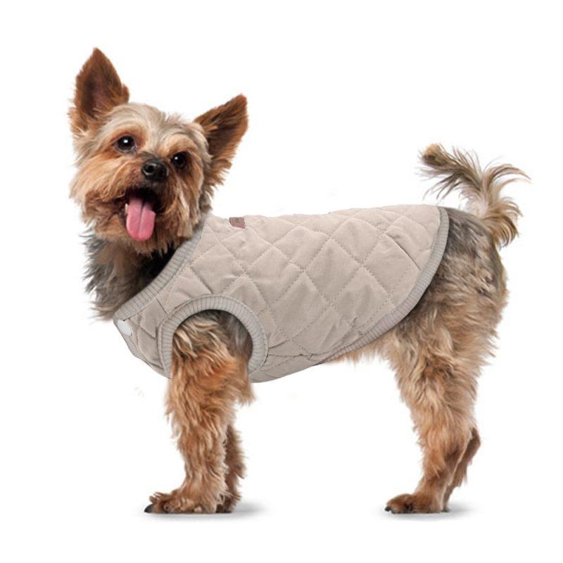 Manteau beige pour chien de petite taille